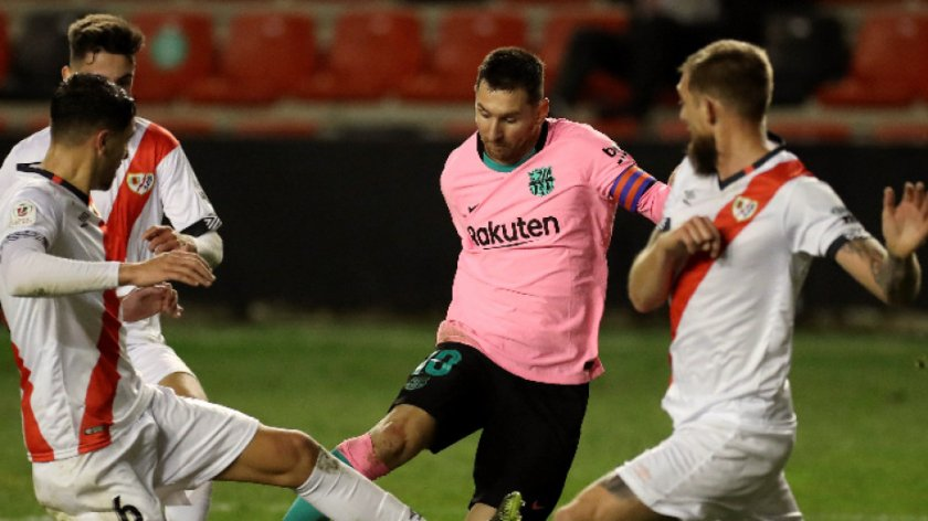 Барселона на 1/4-финал за Купата след мъки срещу Райо