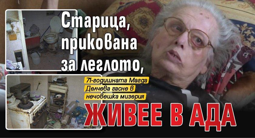 Старица, прикована за леглото, живее в ада