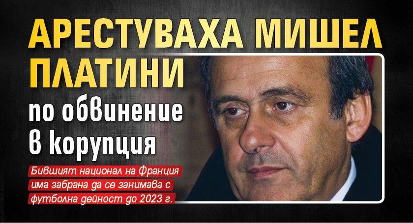 Арестуваха Мишел Платини по обвинение в корупция