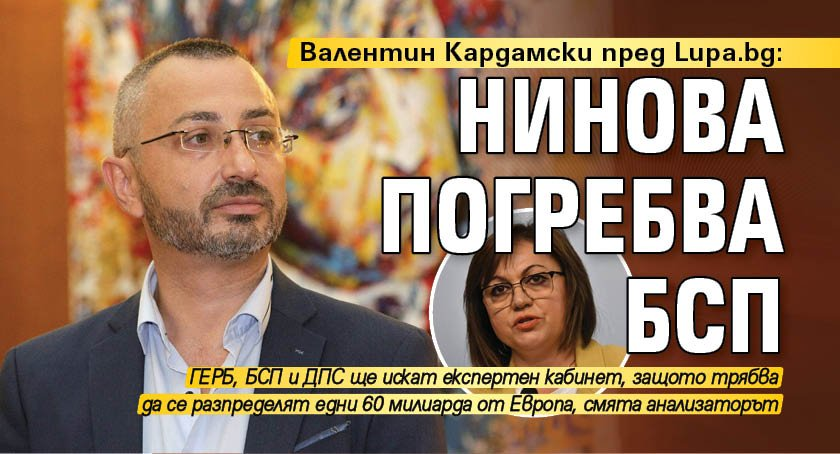 Валентин Кардамски пред Lupa.bg: Нинова погребва БСП