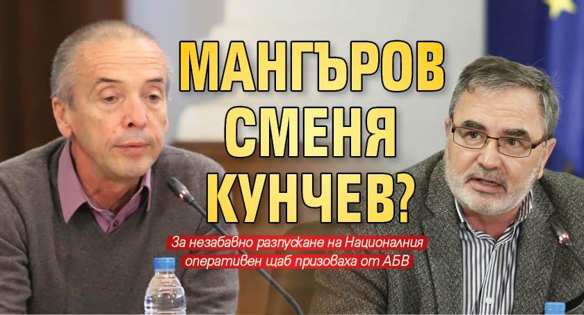 Мангъров сменя Кунчев?