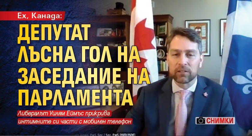 Ех, Канада: Депутат лъсна гол на заседание на парламента (СНИМКИ)