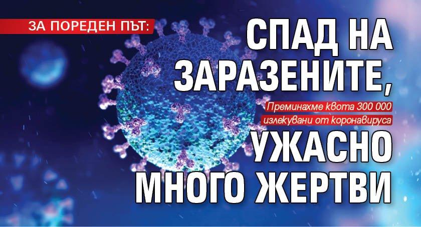 ЗА ПОРЕДЕН ПЪТ: Спад на заразените, ужасно много жертви
