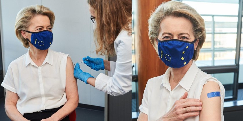 "Урсула фон дер Лайен се ваксинира с ""Пфайзер"""