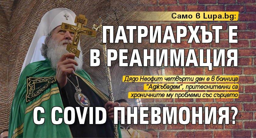Само в Lupa.bg: Патриархът е в реанимация с COVID пневмония?