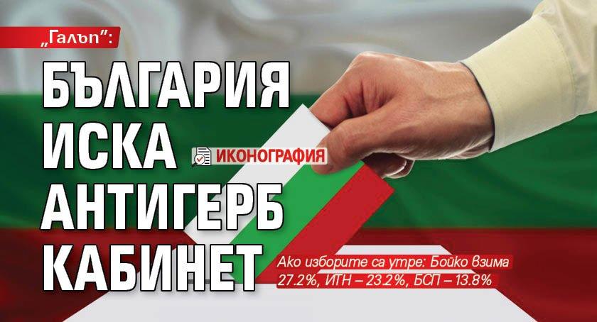 """Галъп"": България иска антиГЕРБ кабинет (ИКОНОГРАФИЯ)"