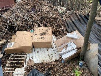 Иззеха огромно количество контрабандни цигари