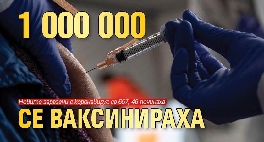 1 000 000 се ваксинираха