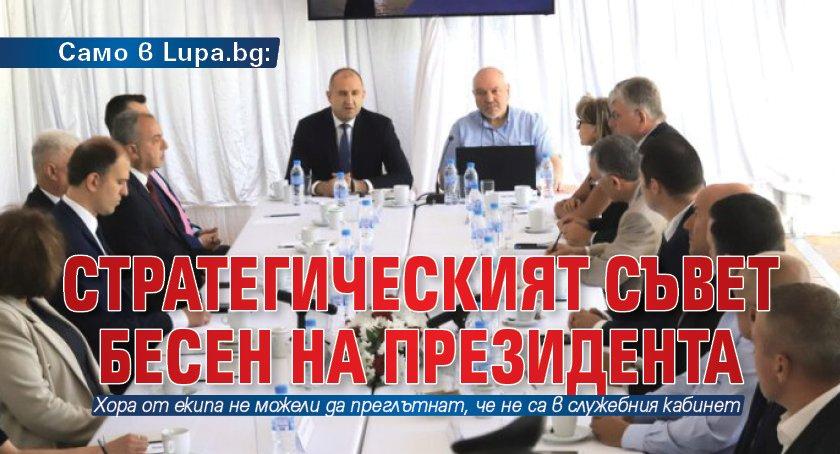 Само в Lupa.bg: Стратегическият съвет бесен на президента