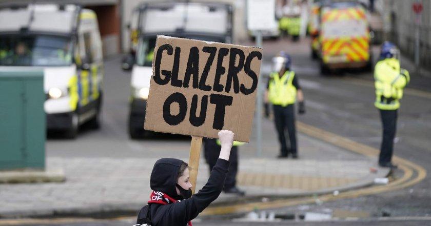 Манчестър Юнайтед загуби £200 млн. заради протестите на феновете си