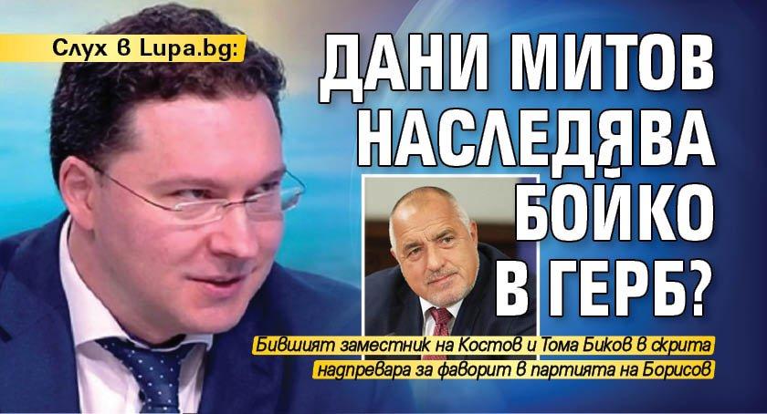 Слух в Lupa.bg: Дани Митов наследява Бойко в ГЕРБ?