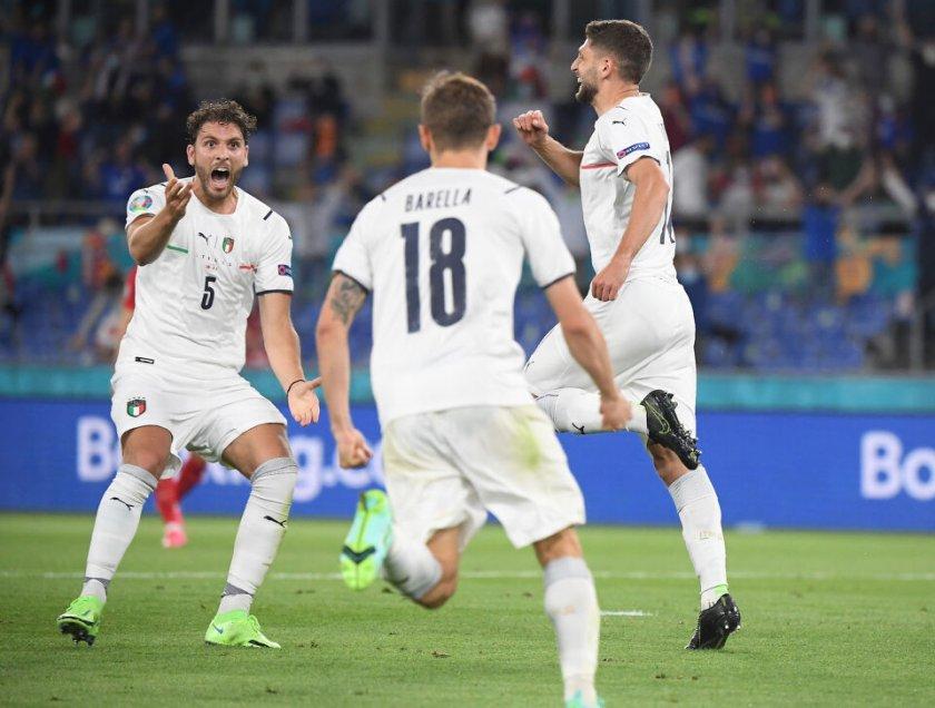 Едно полувреме стигна на Италия да стартира мощно на Евро 2020