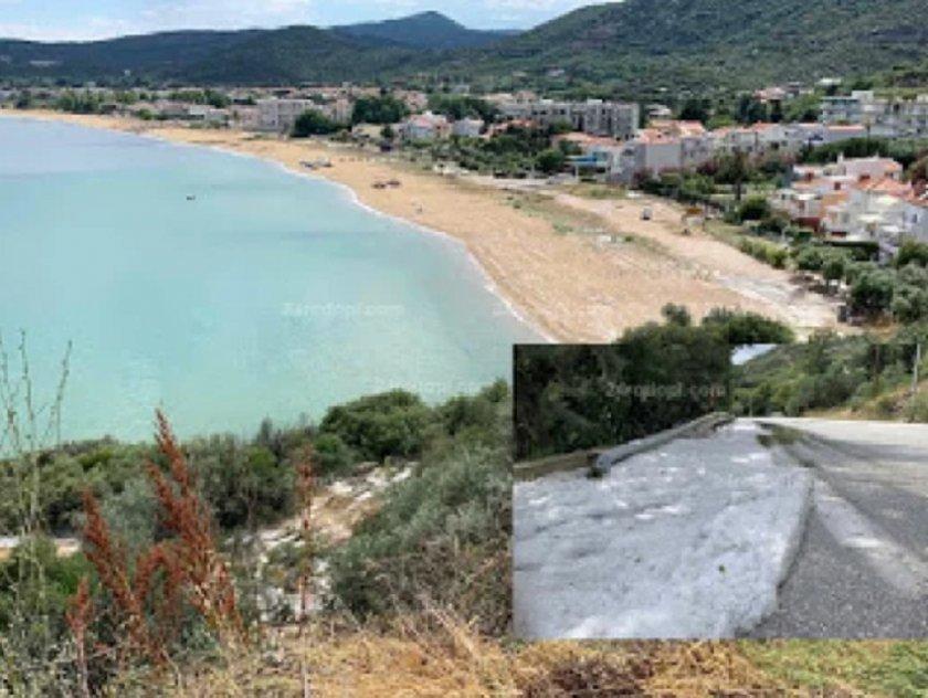 Жестоки градушки опоскаха Северна Гърция (ВИДЕО)