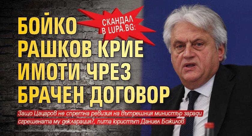 Скандал в Lupa.bg: Бойко Рашков крие имоти чрез брачен договор