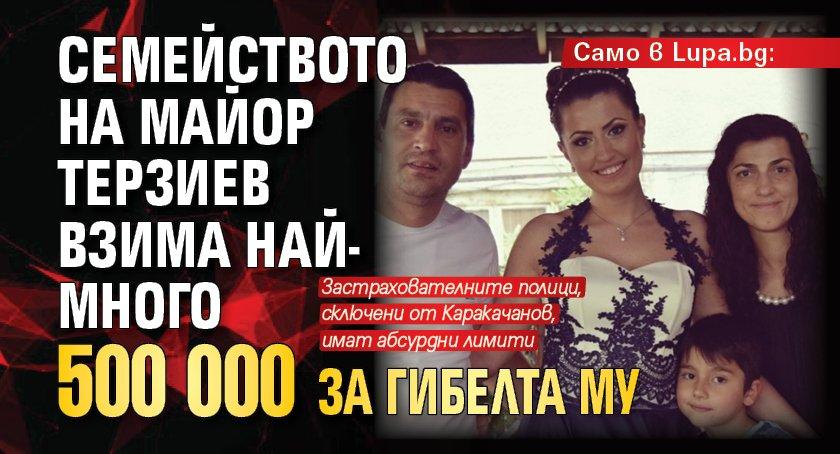 Само в Lupa.bg: Семейството на майор Терзиев взима най-много 500 000 за гибелта му