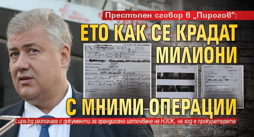 """Престъпен сговор в """"Пирогов"""": Ето как се крадат милиони с мними операции"""