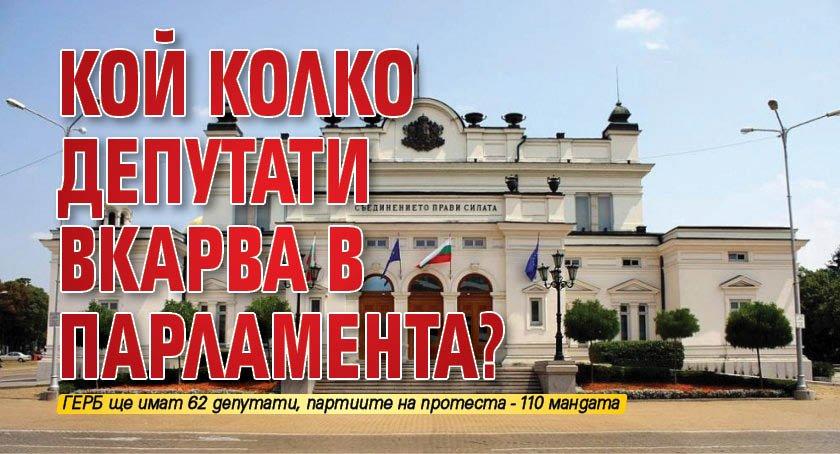 Кой колко депутати вкарва в парламента?