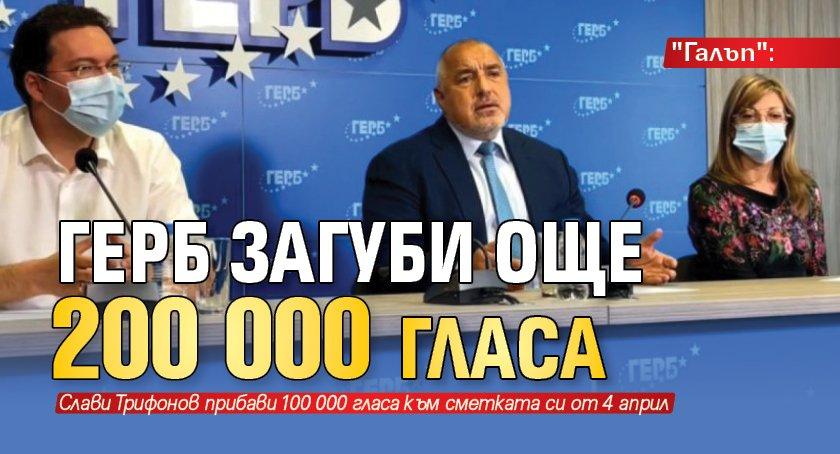 """""""Галъп"""": ГЕРБ загуби още 200 000 гласа"""