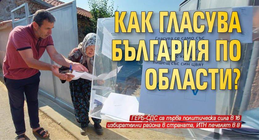 Как гласува България по области?