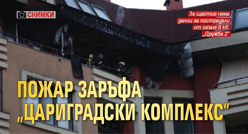 """Пожар заръфа """"Цариградски комплекс"""" (СНИМКИ)"""