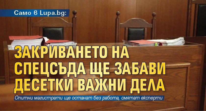 Само в Lupa.bg: Закриването на спецсъда ще забави десетки важни дела