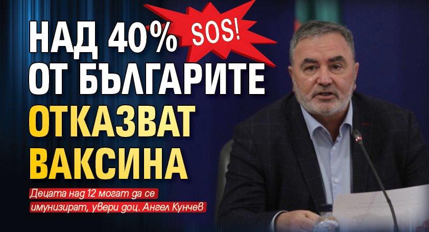 SOS! Над 40% от българите отказват ваксина