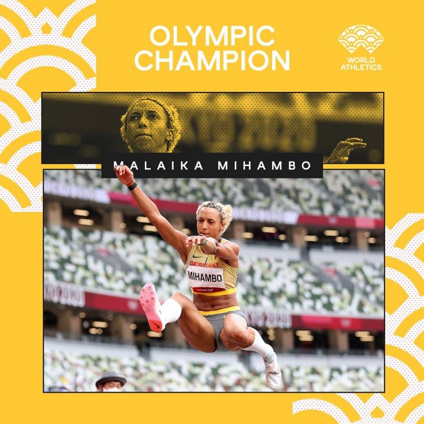 С последния си опит Михамбо грабна олимпийското злато в скока на дължина
