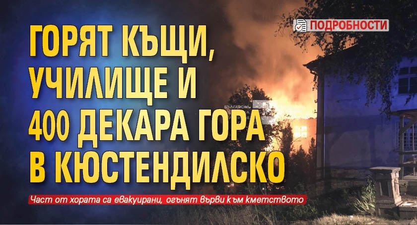 Горят къщи, училище и 400 декара гора в Кюстендилско (подробности)