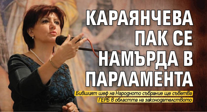 Караянчева пак се намърда в парламента