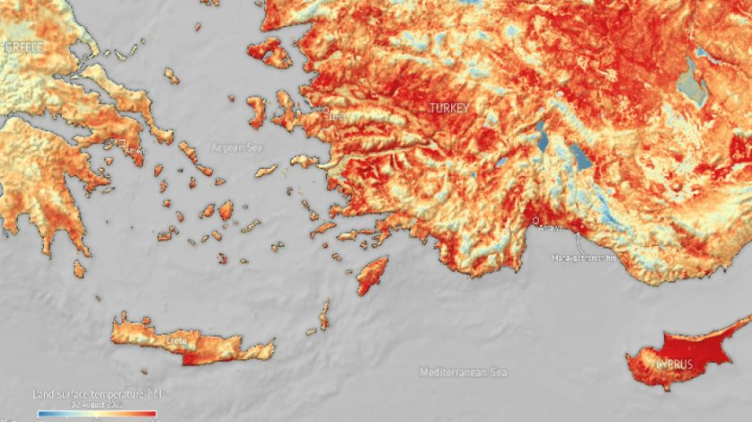 Топлинен ужас! Над 50 градуса в Турция и Кипър