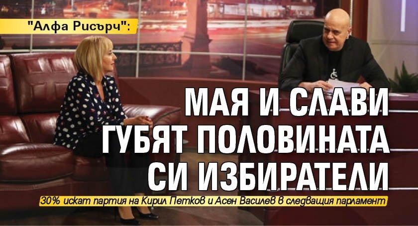 """""""Алфа Рисърч"""": Мая и Слави губят половината си избиратели"""