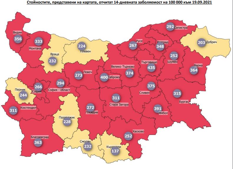 София е в червена зона