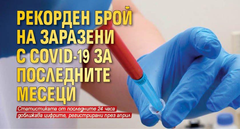 Рекорден брой на заразени с COVID-19 за последните месеци