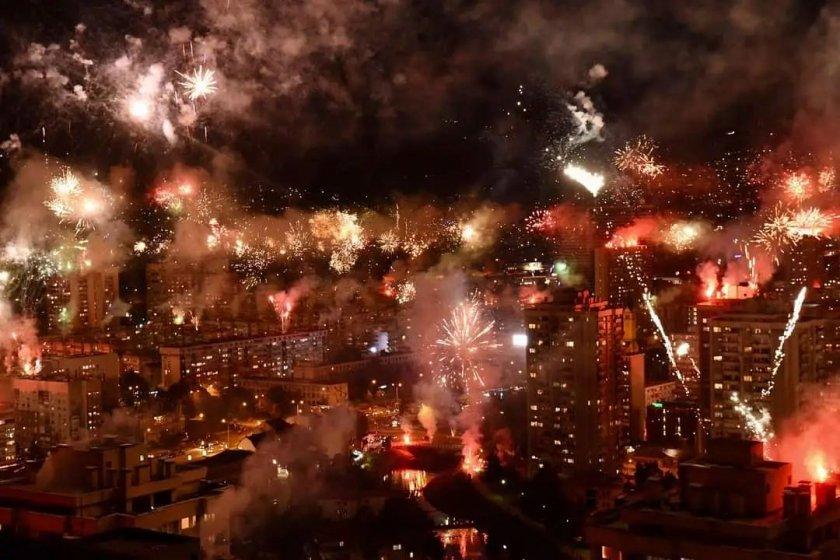 Сараево засия като на Нова година (ВИДЕО)