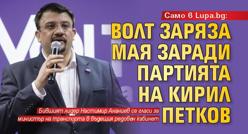 Само в Lupa.bg: Волт заряза Мая заради партията на Кирил Петков