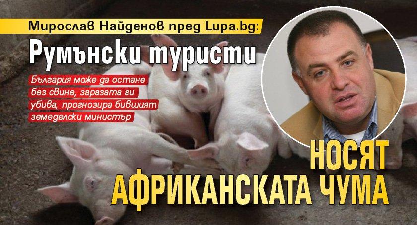 Мирослав Найденов пред Lupa.bg: Румънски туристи носят африканската чума