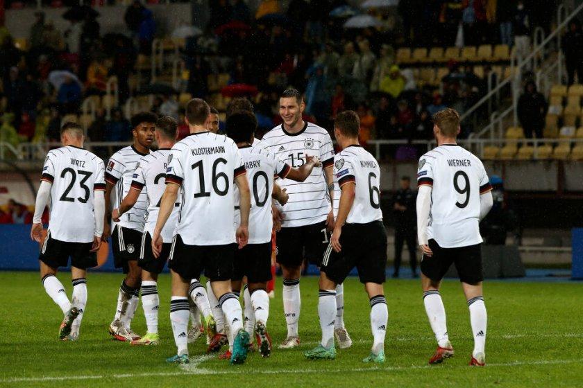 Германия се класира за Мондиал 2022 след бой над Северна Македония