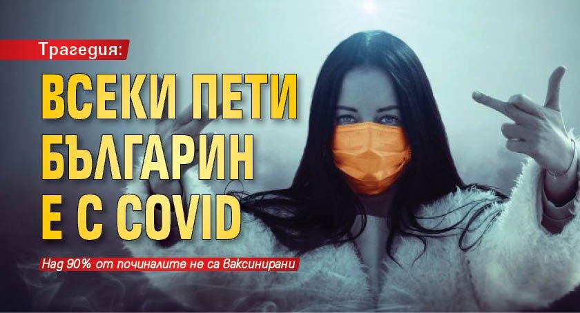 Трагедия: Всеки пети българин е с COVID