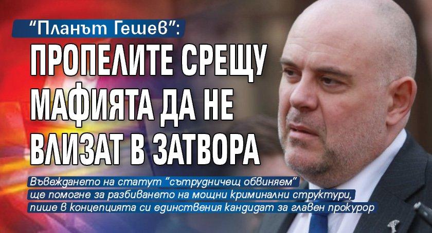 """""""Планът Гешев"""": Пропелите срещу мафията да не влизат в затвора"""