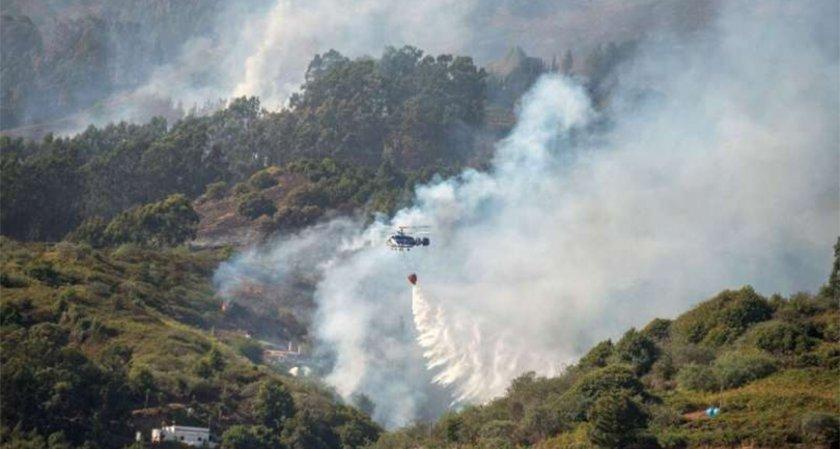 Горският пожар на остров Гран Канария продължава