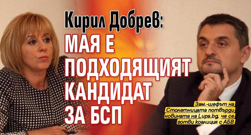 Кирил Добрев: Мая е подходящият кандидат за БСП