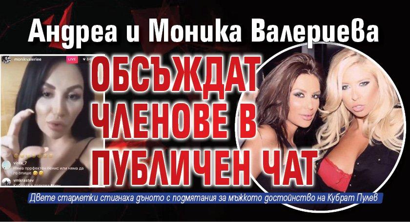 Андреа и Моника Валериева обсъждат членове в публичен чат