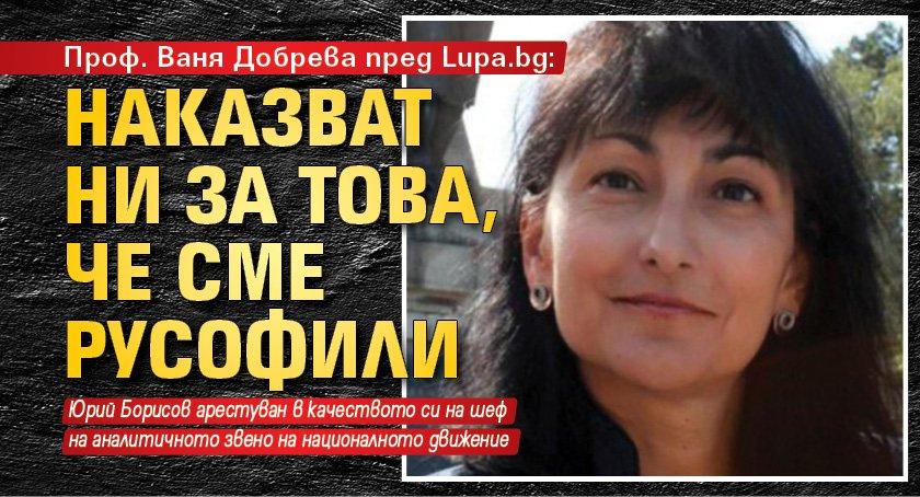 Проф. Ваня Добрева пред Lupa.bg: Наказват ни за това, че сме русофили