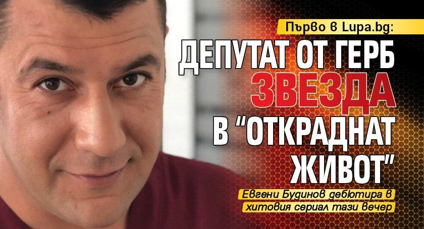 """Първо в Lupa.bg: Депутат от ГЕРБ звезда в """"Откраднат живот"""""""