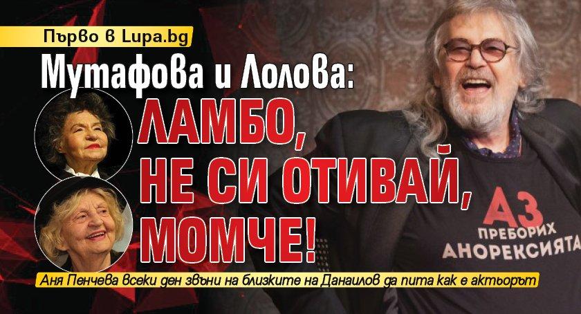Първо в Lupa.bg: Мутафова и Лолова: Ламбо, не си отивай, момче!