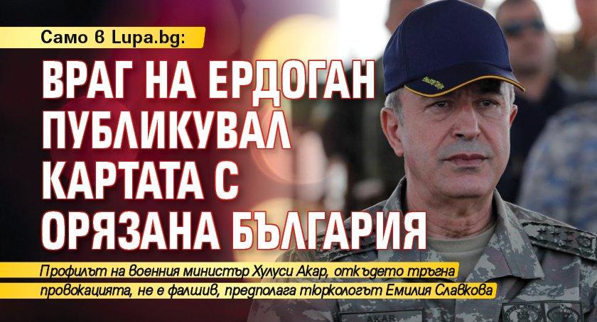 Само в Lupa.bg: Враг на Ердоган публикувал картата с орязана България