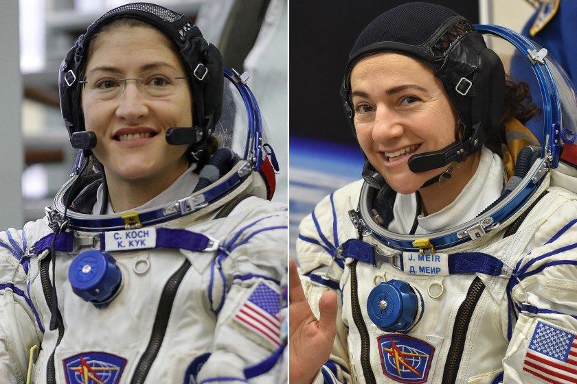 За първи път жени ремонтират космическа станция