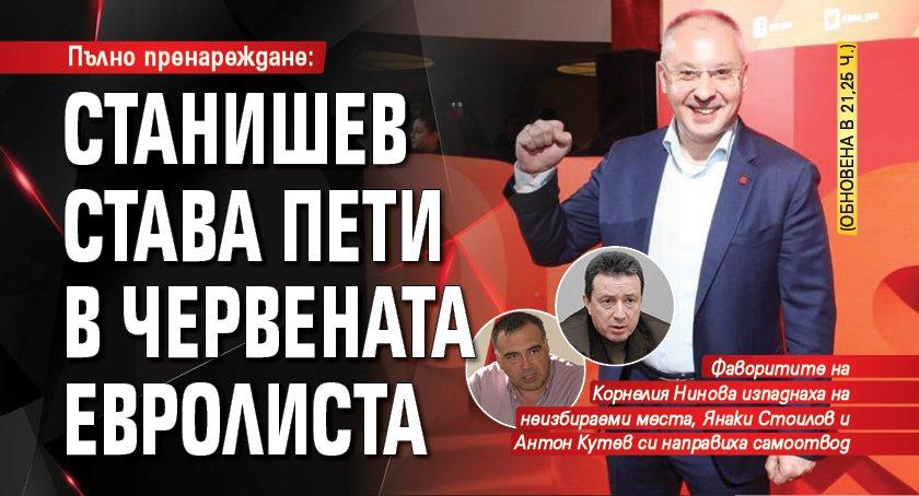 Пълно пренареждане: Станишев става пети в червената евролиста (обновена в 21,25 ч.)