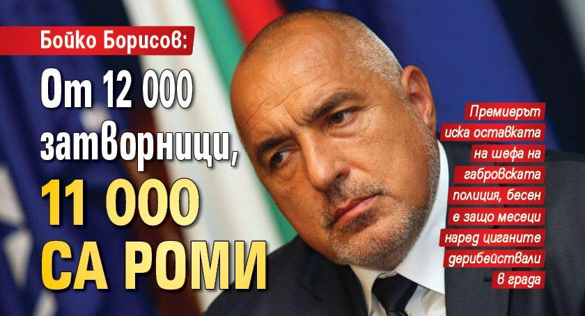 Бойко Борисов: От 12 000 затворници, 11 000 са роми
