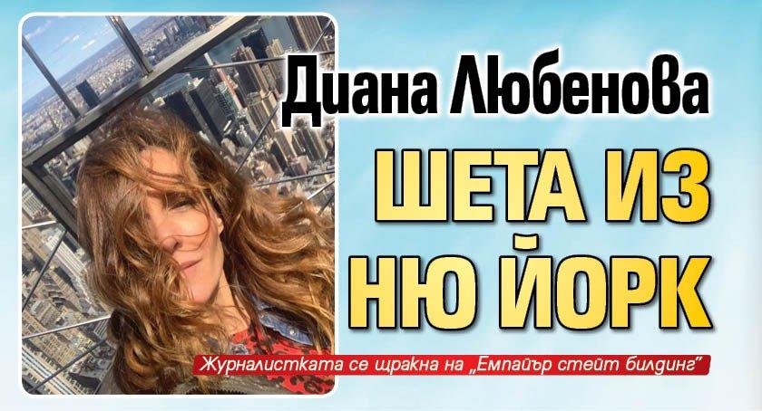 Диана Любенова шета из Ню Йорк